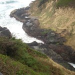 The ocean rushes in at Devil's Churn